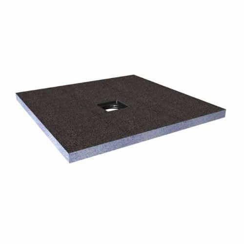 Abacus Elements Square Standard Shower Tray 40mm High With Centre Drain - 1500mm x 1500mm